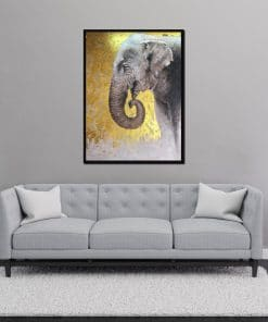 Elephant Oil Painting Wall Decoration