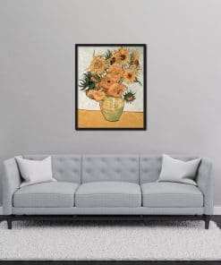 Vase with Twelve Sunflowers Vincent van Gogh oil painting